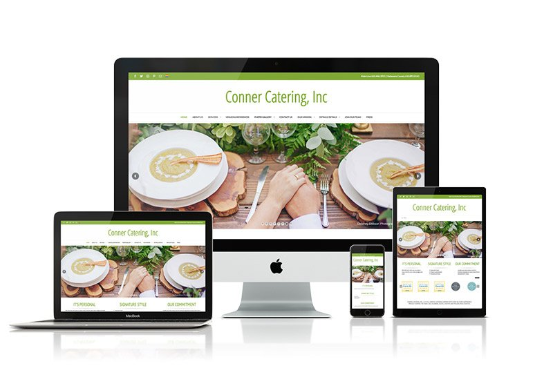 Julie Tomlin Web Design: Conner Catering