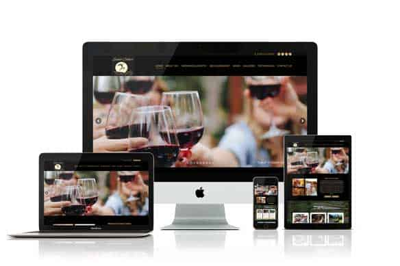 Saluti Cellars Responsive Website Design by Julie Tomlin